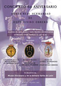 Concierto 60 aniversario Banda Real Hermandad de Jesús Divino Obrero @ Iglesia San Juan y San Pedro de Renueva